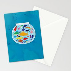 Big fish, little bowl.  Stationery Cards