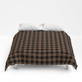 Classic Brown Coffee Country Cottage Summer Buffalo Plaid Comforters