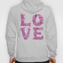 L O V E / pink Hoody