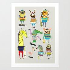 skateboarders, skaters, skateboard, Art Print