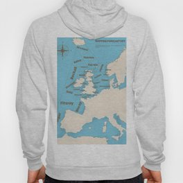 meteorological Shipping forecast. Hoody