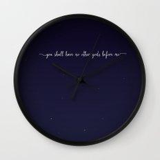 The First Commandment Wall Clock