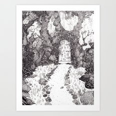 We are building a road that leads to a door Art Print