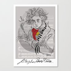 Beethoven in musica Canvas Print