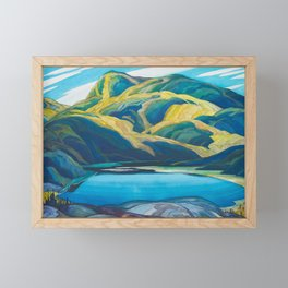 Canadian Landscape Oil Painting Franklin Carmichael Art Nouveau Post-Impressionism Lone Lake Framed Mini Art Print
