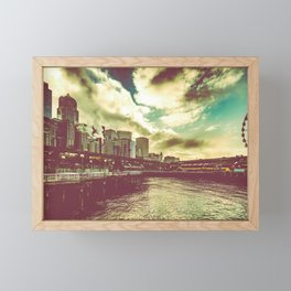 Seattle Pike Place Market Pier 57 Framed Mini Art Print