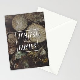 Homies Help Homies Stationery Cards