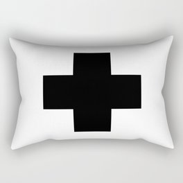 Black Swiss Cross Rectangular Pillow