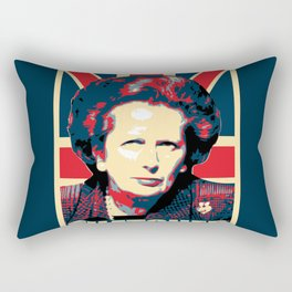Margaret Thatcher Propaganda Rectangular Pillow