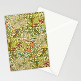 William Morris Golden Lily Vintage Pre-Raphaelite Floral Stationery Cards