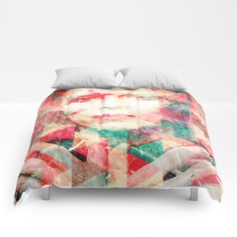 Bowie abstraction Comforters