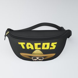 Tacos And Tequila Funny Drinking Mexican Food graphic Fanny Pack
