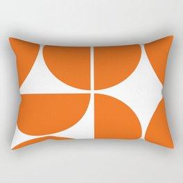 Mid Century Modern Orange Square Rectangular Pillow