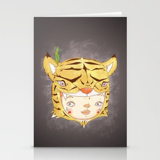 DRUNKEN TIGAAAAR Stationery Cards