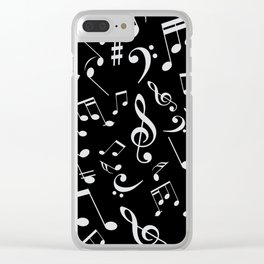 Musical Notes 20 Clear iPhone Case