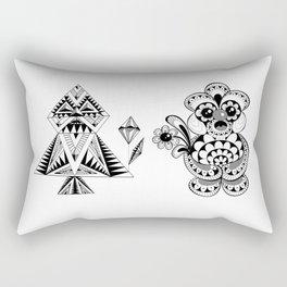 Odd Couple - Valentine's day musings Rectangular Pillow