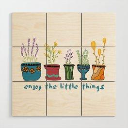 Enjoy the Little Things Wood Wall Art