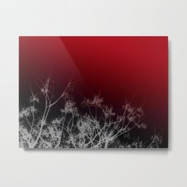 Tree Top-Red Metal Print
