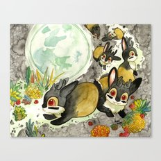 Moonlight (With Jackalopes) Canvas Print