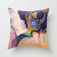 Lace & Spiral Throw Pillow