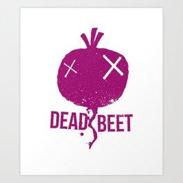 Dead beet Art Print