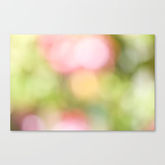 Pastel Bokeh  Canvas Print