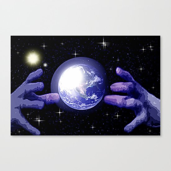 In good hands. Canvas Print