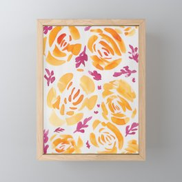 9  |  190412 Flower Abstract Watercolour Painting Framed Mini Art Print
