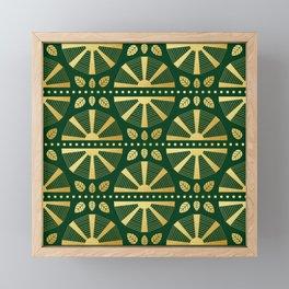 Emerald & Gold Art Deco Fan Framed Mini Art Print