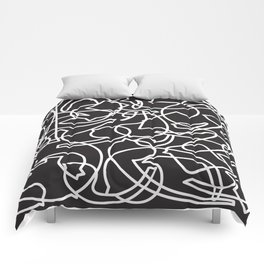 Jolly Clips (Black) Comforters