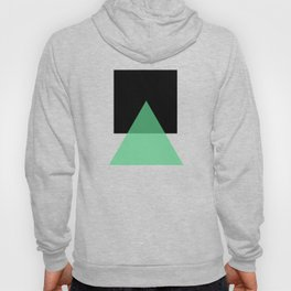 Abstract #14 Green, Black and Beige Hoody