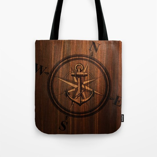 Wooden Anchor Tote Bag