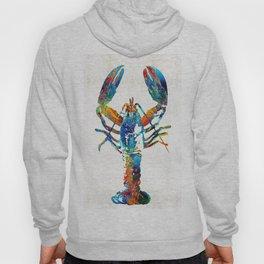 Colorful Lobster Art by Sharon Cummings Hoody