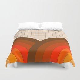 Tan Gridlines Duvet Cover