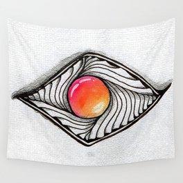 Doodled Gem Sparkle Eye Wall Tapestry
