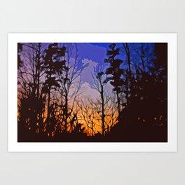 Georgia Woods  Art Print