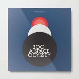 2001 a Space Odyssey, Stanley Kubrick alternative movie poster, dark blue  classic film, cinema love Metal Print