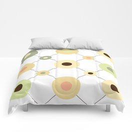 Circles and Wires Comforters