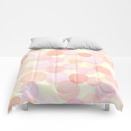 Pink and coral-red dots overprint pattern Comforters