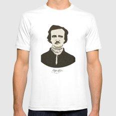 Edgar A. Poe Mens Fitted Tee MEDIUM White