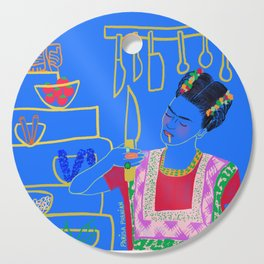 FRIDA KAHLO AND HER KNIFE Cutting Board