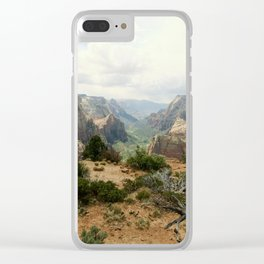 Above Zion Canyon Clear iPhone Case