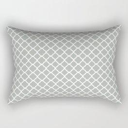 Quatrefoil in Silver Gray Rectangular Pillow