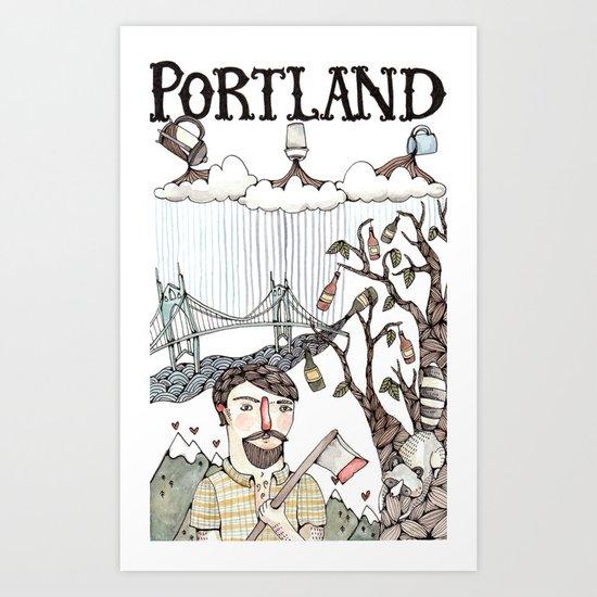 Portland, Oregon Art Print