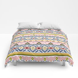 Ethnic ornament , white background Comforters