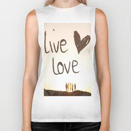 Live Love Biker Tank