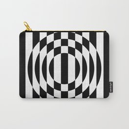 Hot Spot || Black & White Carry-All Pouch