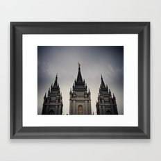 Temple Top Framed Art Print