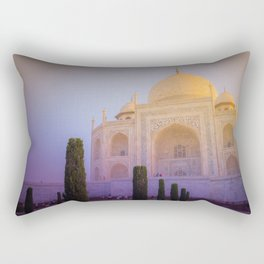 Morning Colors over Taj Mahal Rectangular Pillow
