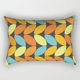 Retro 70s Color Palette Leaf Pattern II Rectangular Pillow